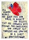 Immagine dell'Articolo 1 della Dichiarazione Universale dei Diritti Umani