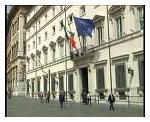 Fotografia della facciata principale di Palazzo Chigi - sede del Governo italiano