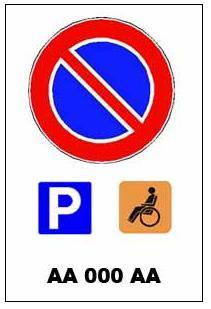 cartello parcheggio in concessione
