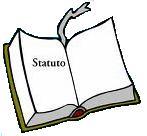 """Disegno di un libro aperto con scritto """"statuto"""""""